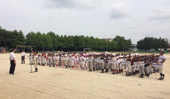習志野市少年野球ジュニア大会開会式&1回戦